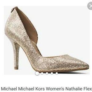 04a2d109d3f MICHAEL Michael Kors Shoes - Michael Kors nathalie flex high pump glitter  gold